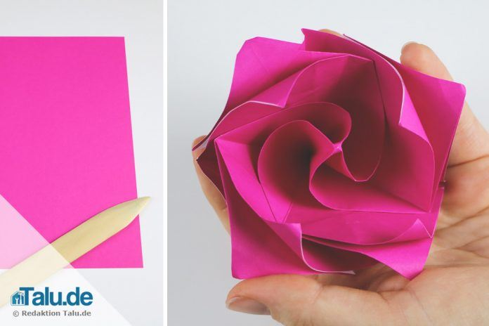 Attraktiv Origami Rose