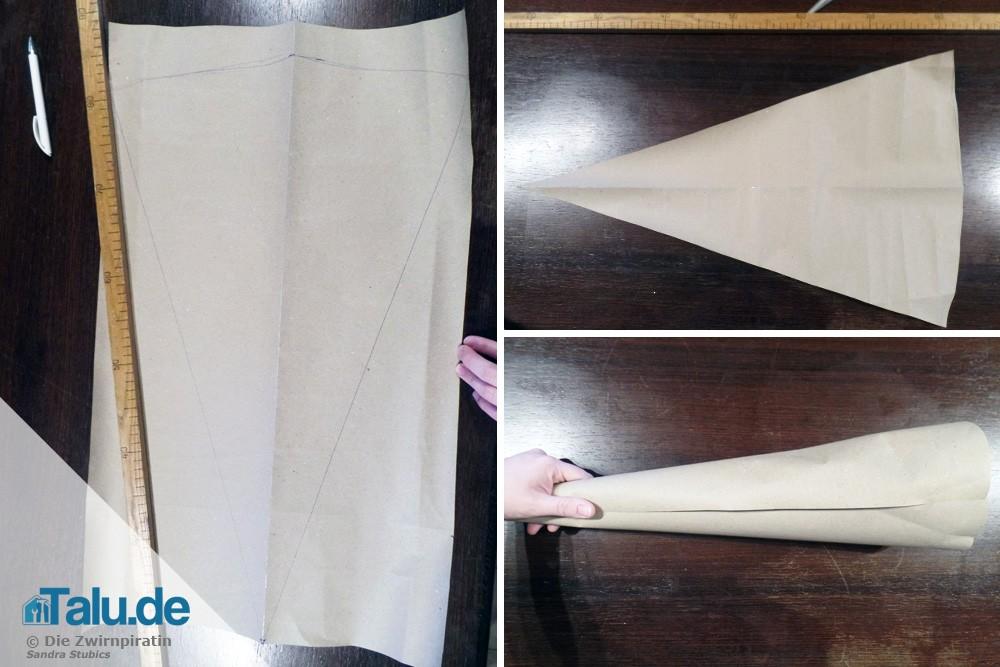 Schnittmuster für Schultüte