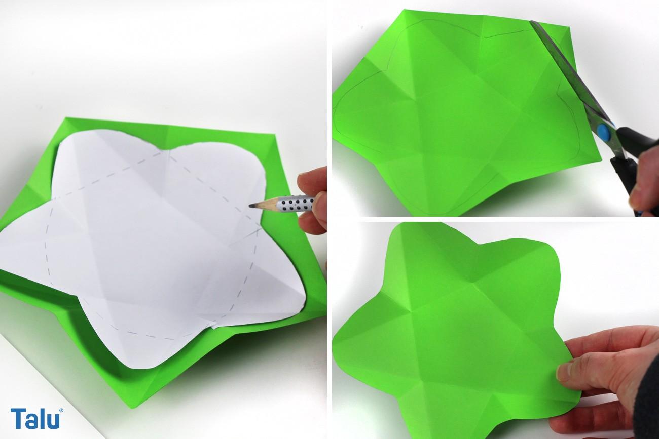 Blütenform des Teelichthalters anzeichnen und ausschneiden