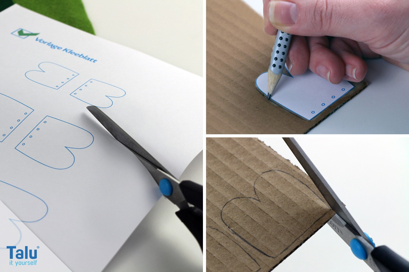 Konturen anzeichnen auf Pappe