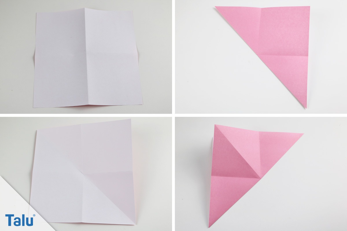 origami hase falten faltanleitung f r einen papierhase. Black Bedroom Furniture Sets. Home Design Ideas