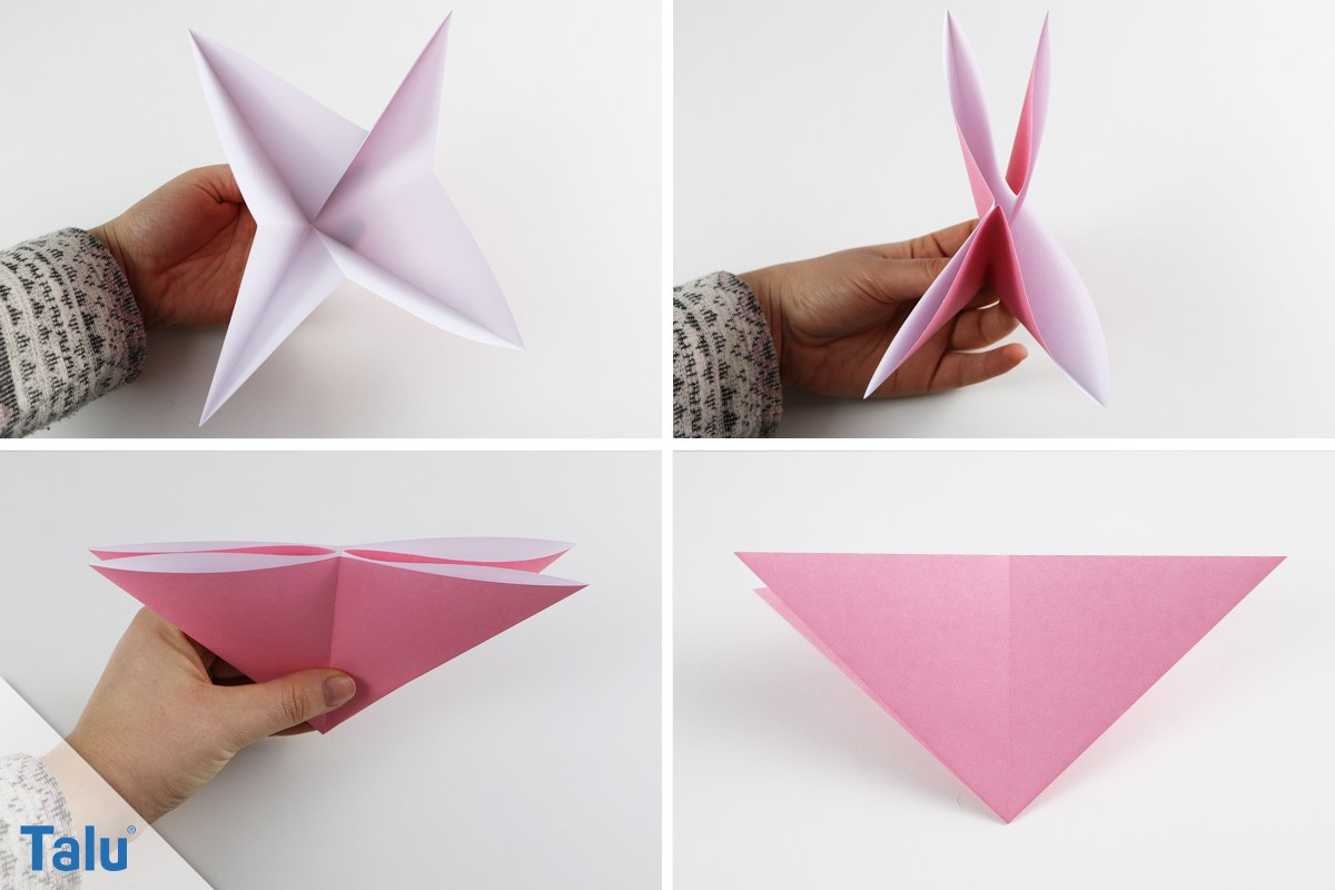 Origami-Hase falten