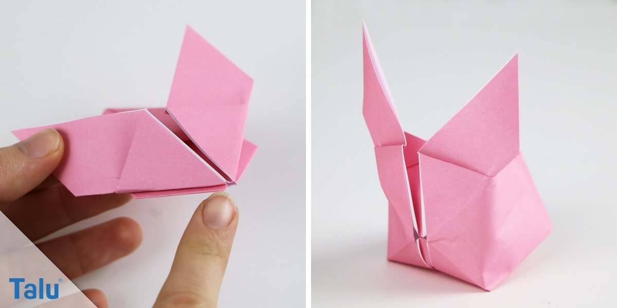 Origami-Osterhase basteln