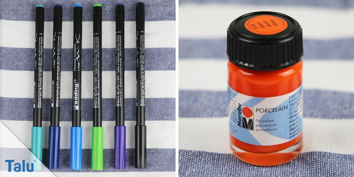 Porzellanmalstifte und Porzellanmalfarbe