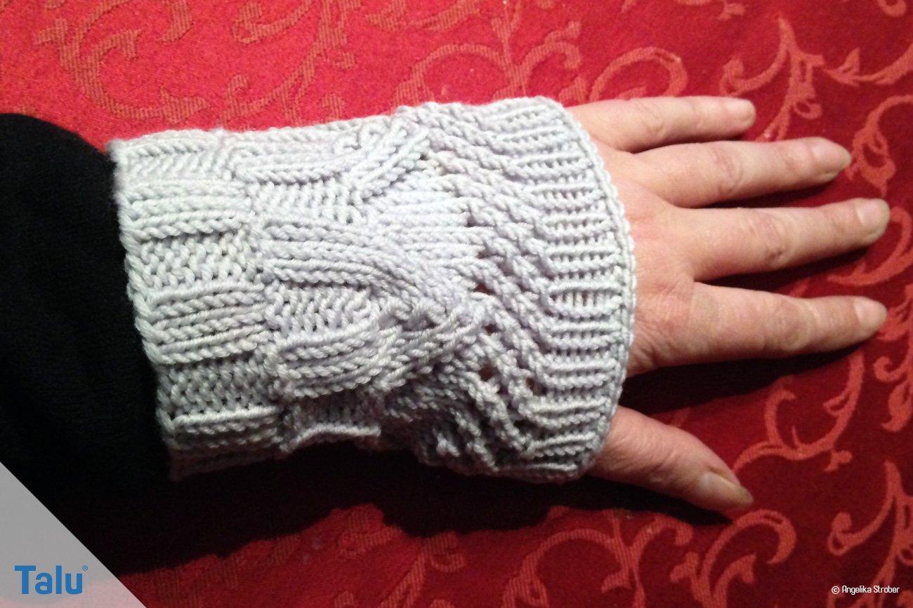 Gestrickte Handstulpe