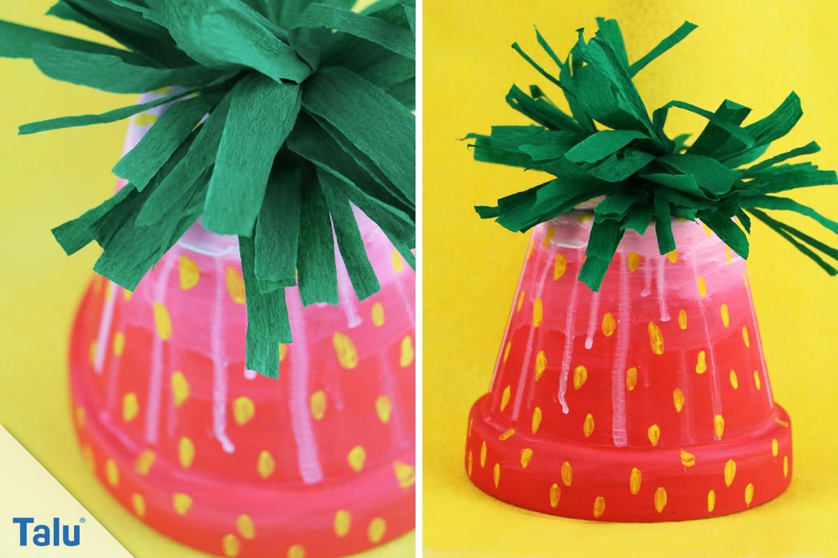 Tontopf-Erdbeere