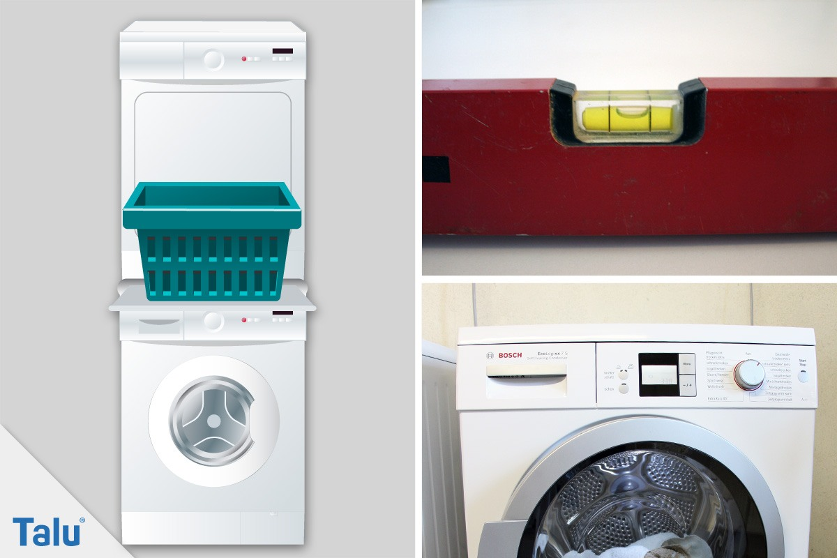 trockner auf waschmaschine stellen was zu beachten ist. Black Bedroom Furniture Sets. Home Design Ideas