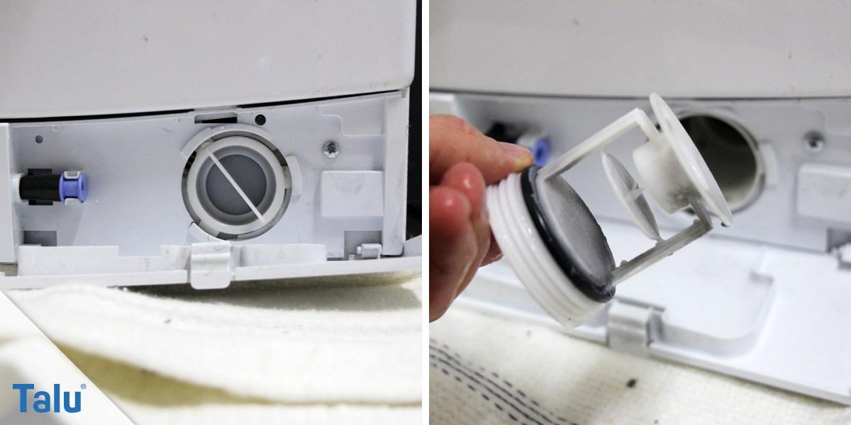 Flusensieb in der Waschmaschine