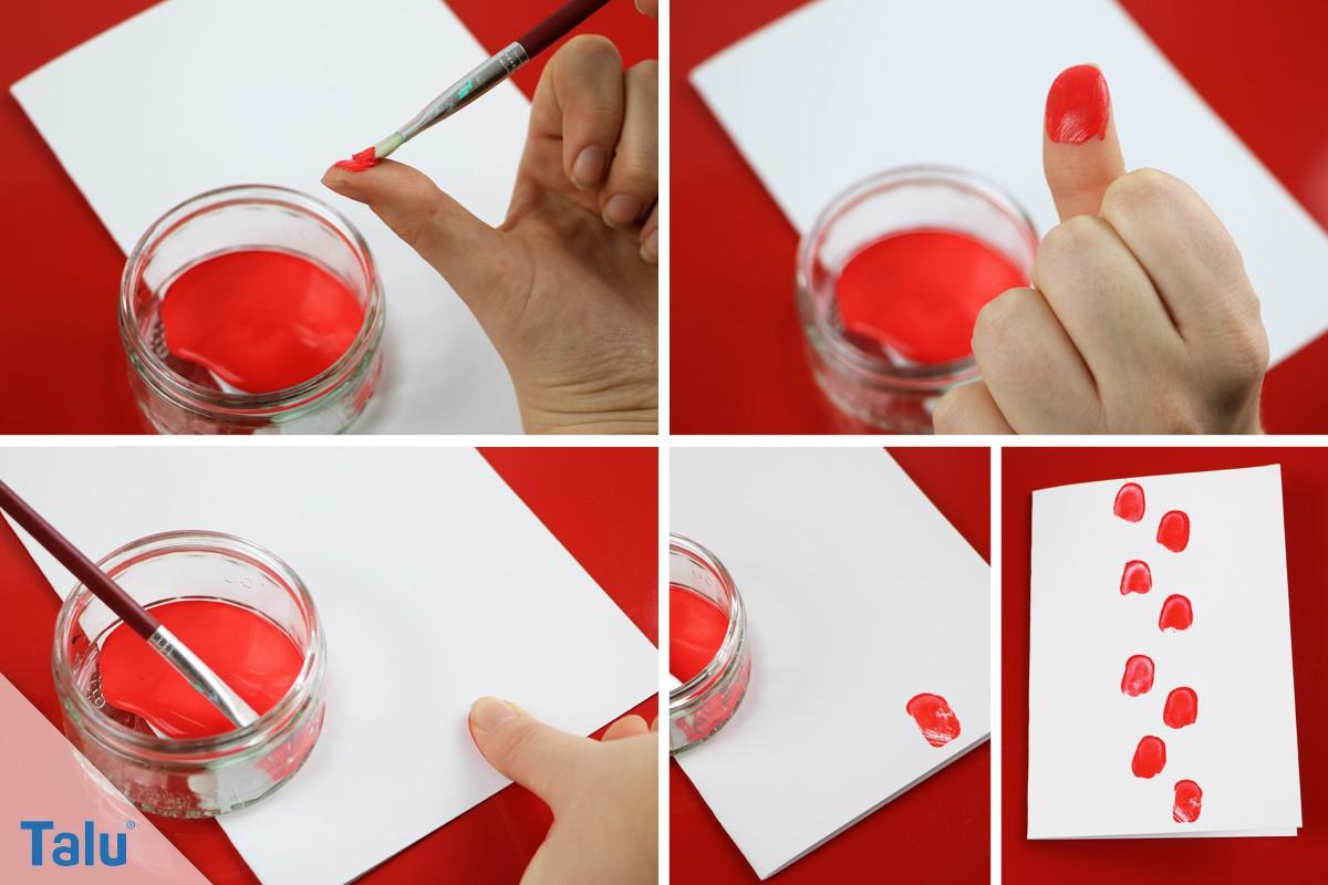 Marienkäfer aus Fingerabdrücken