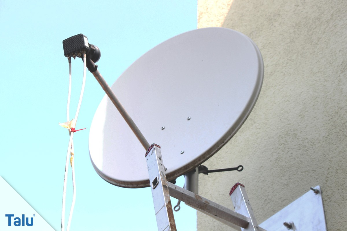 satellitenschüssel einstellen