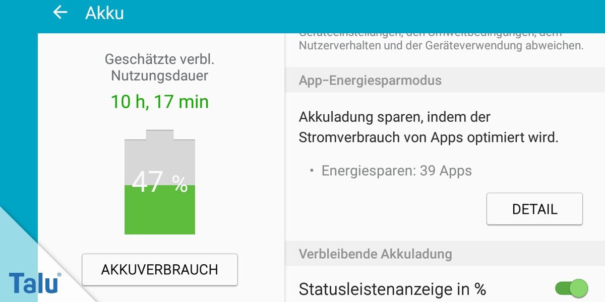 Extrem Android: Akku kalibrieren in nur 6 Schritten - so geht's - Talu.de AH43
