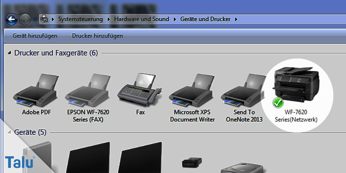 Drucker zum Netzwerk hinzufügen