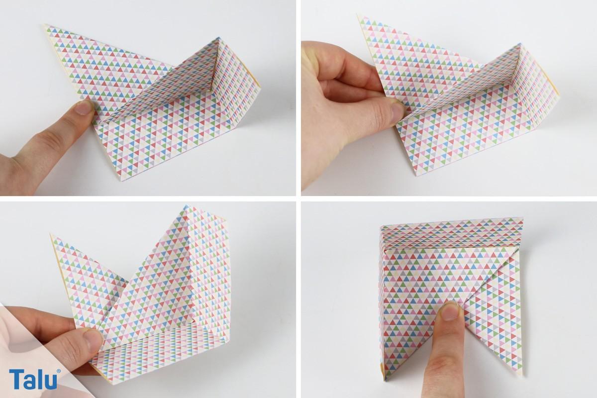 Modulare Origami-Schachtel falten