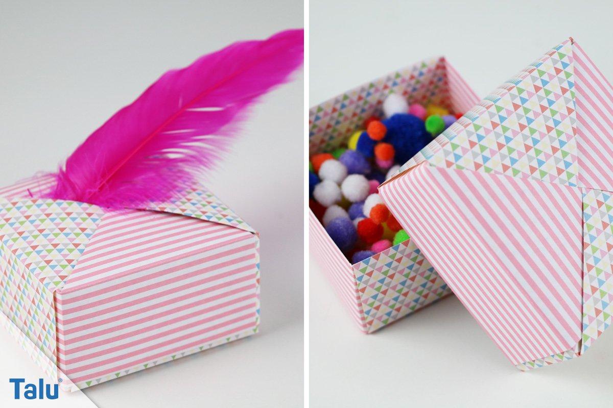 Origami-Box falten