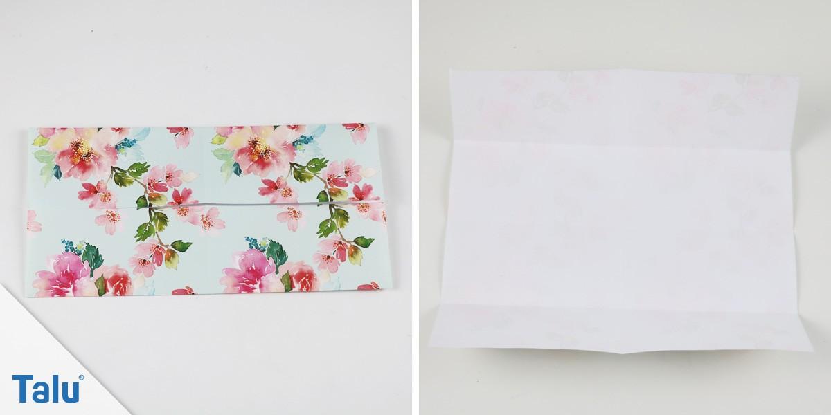 Papier-Schachtel falten