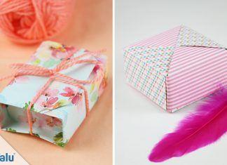 Origami-Schachteln falten