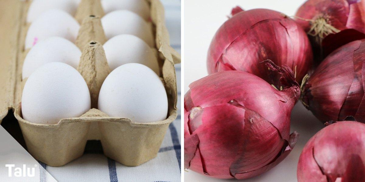 Eier und Zwiebeln