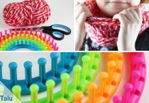 Loop-Schal stricken mit Strickring