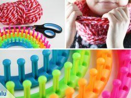 Loop-Schal stricken mit Strickring