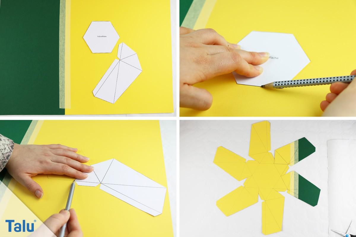 Origami Becher aus Beton basteln