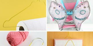 Basteln mit Drahtkleiderbügeln