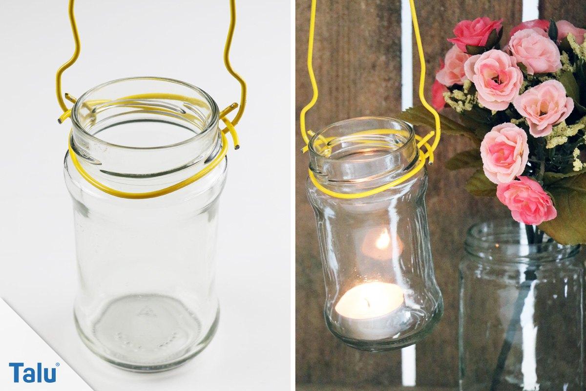 DIY-Teelichtglas