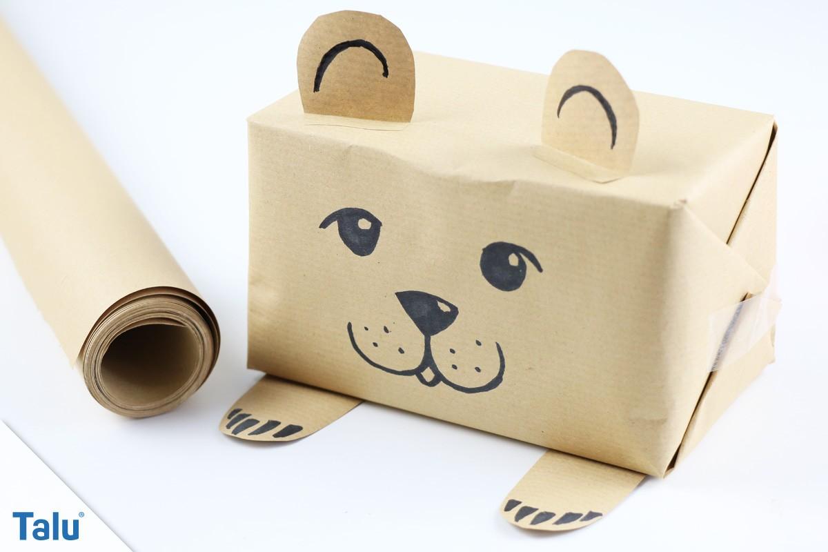 Geschenkverpackung: Bär