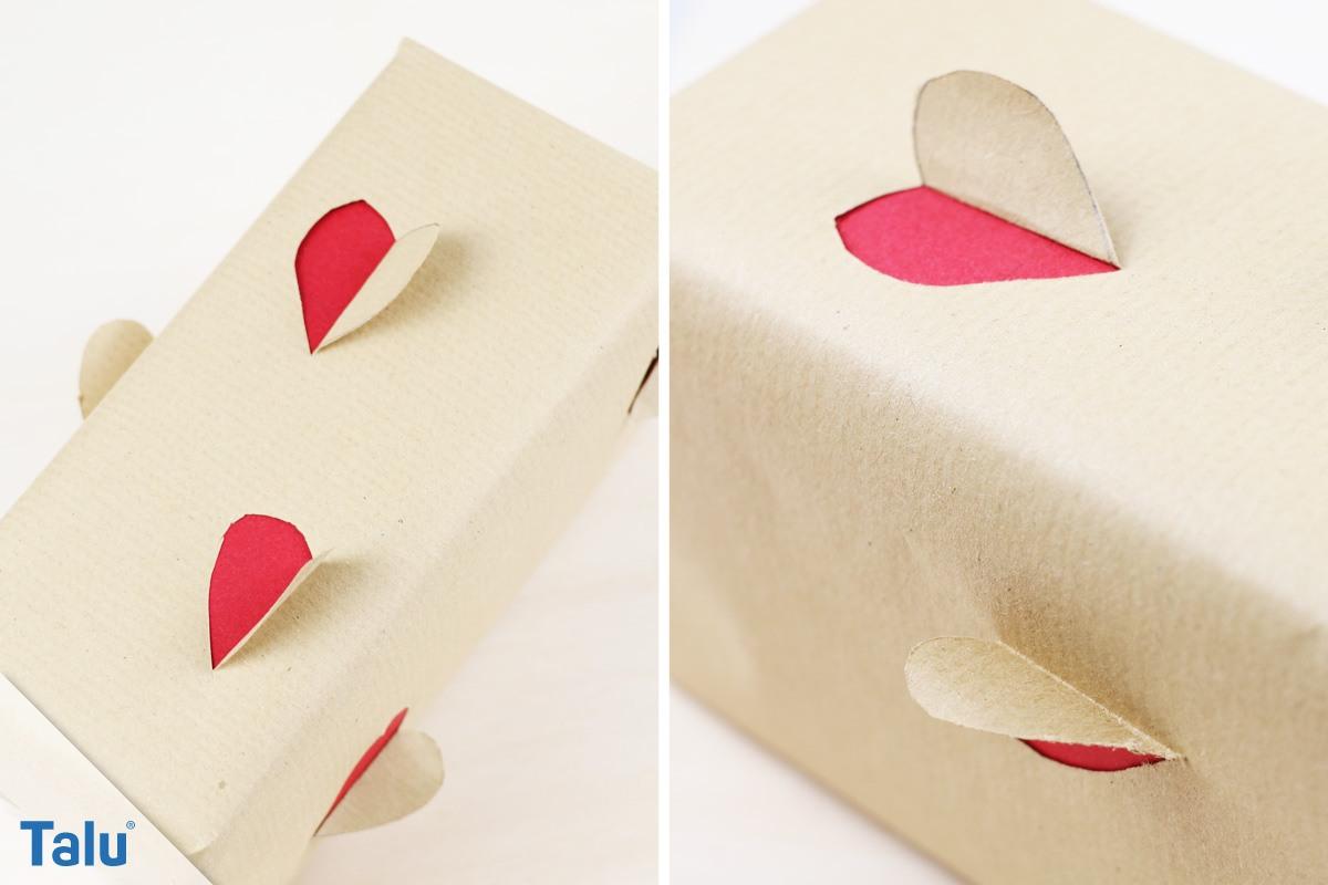Herz-Geschenkverpackung