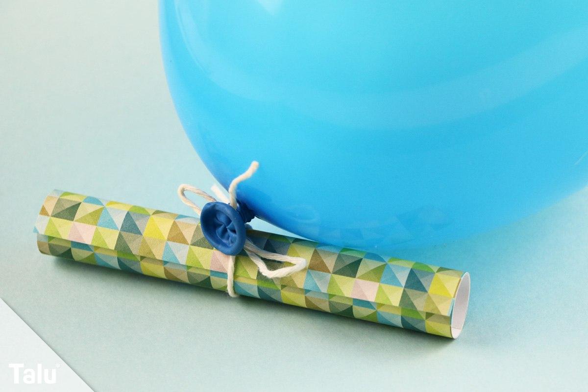 Gutschein am Luftballon
