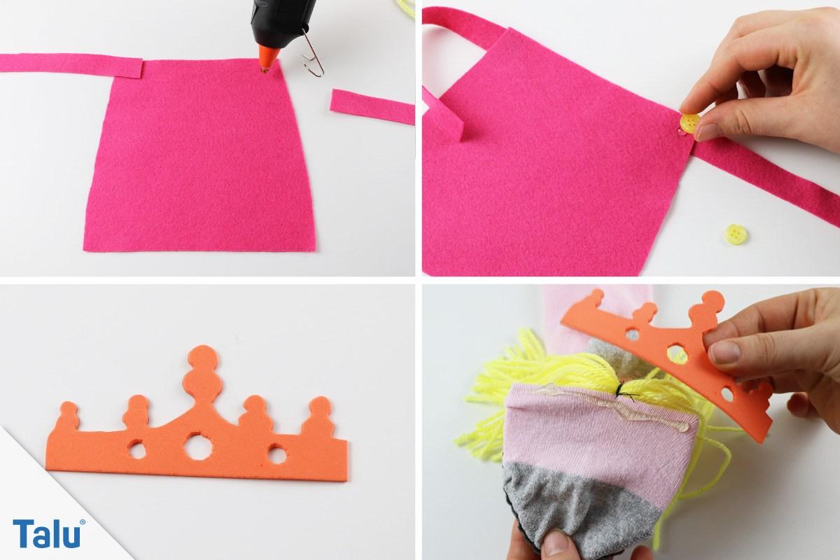 DIY-Prinzessinnenhandpuppe