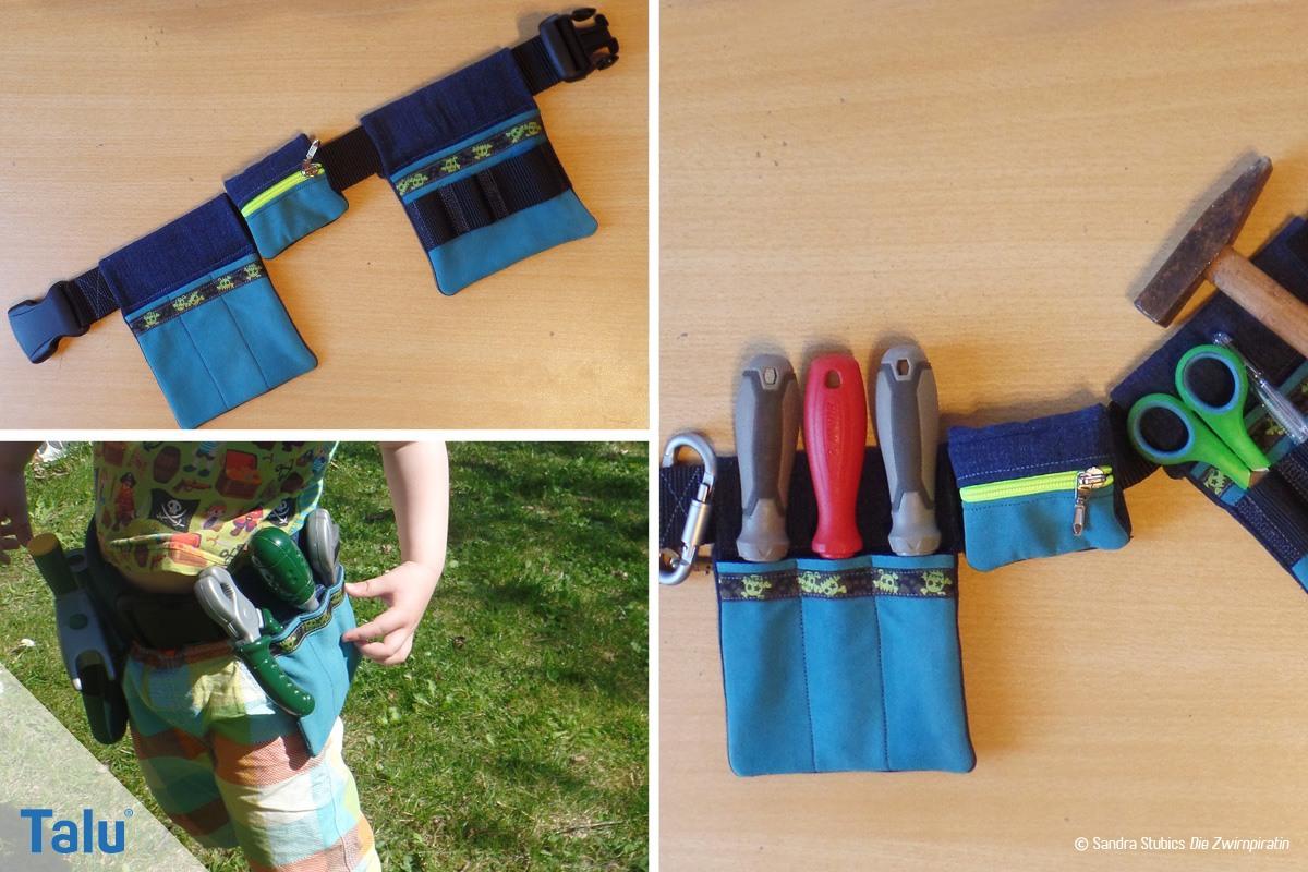 Werkzeuggürtel nähen für Kinder