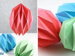 Origami Lampenschirm falten