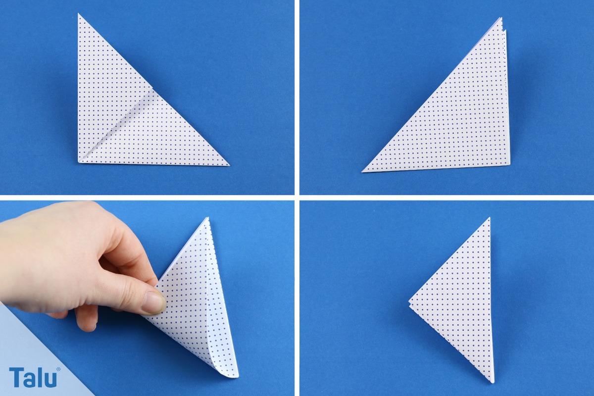 Origami Friedenstaube Basteln Taube Falten Anleitung Vorlage