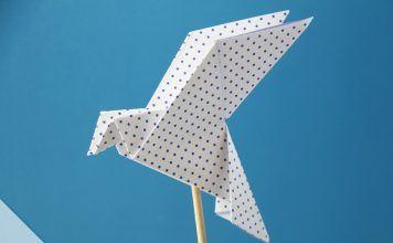 Origami Taube falten