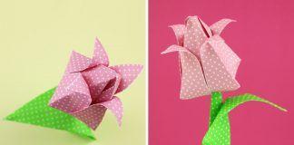 Origami-Tulpe