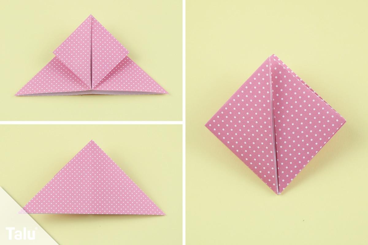 Origami Blume falten