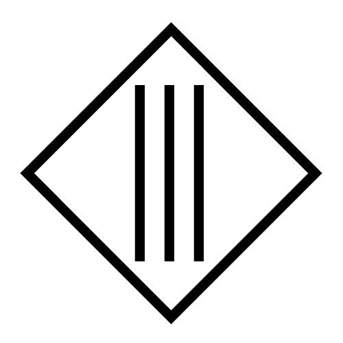 Schutzklasse 3 Symbol