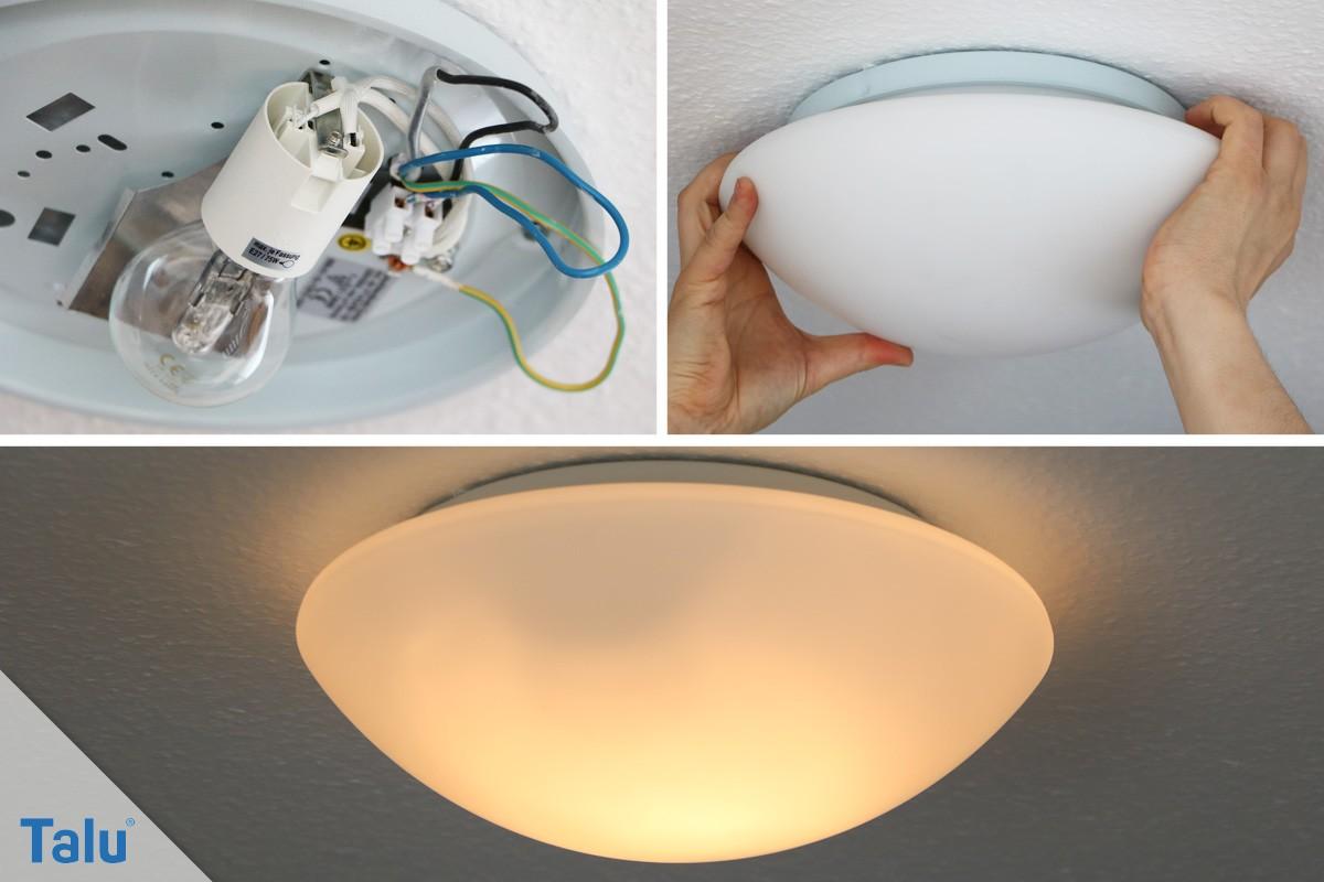 Deckenlampe anschließen