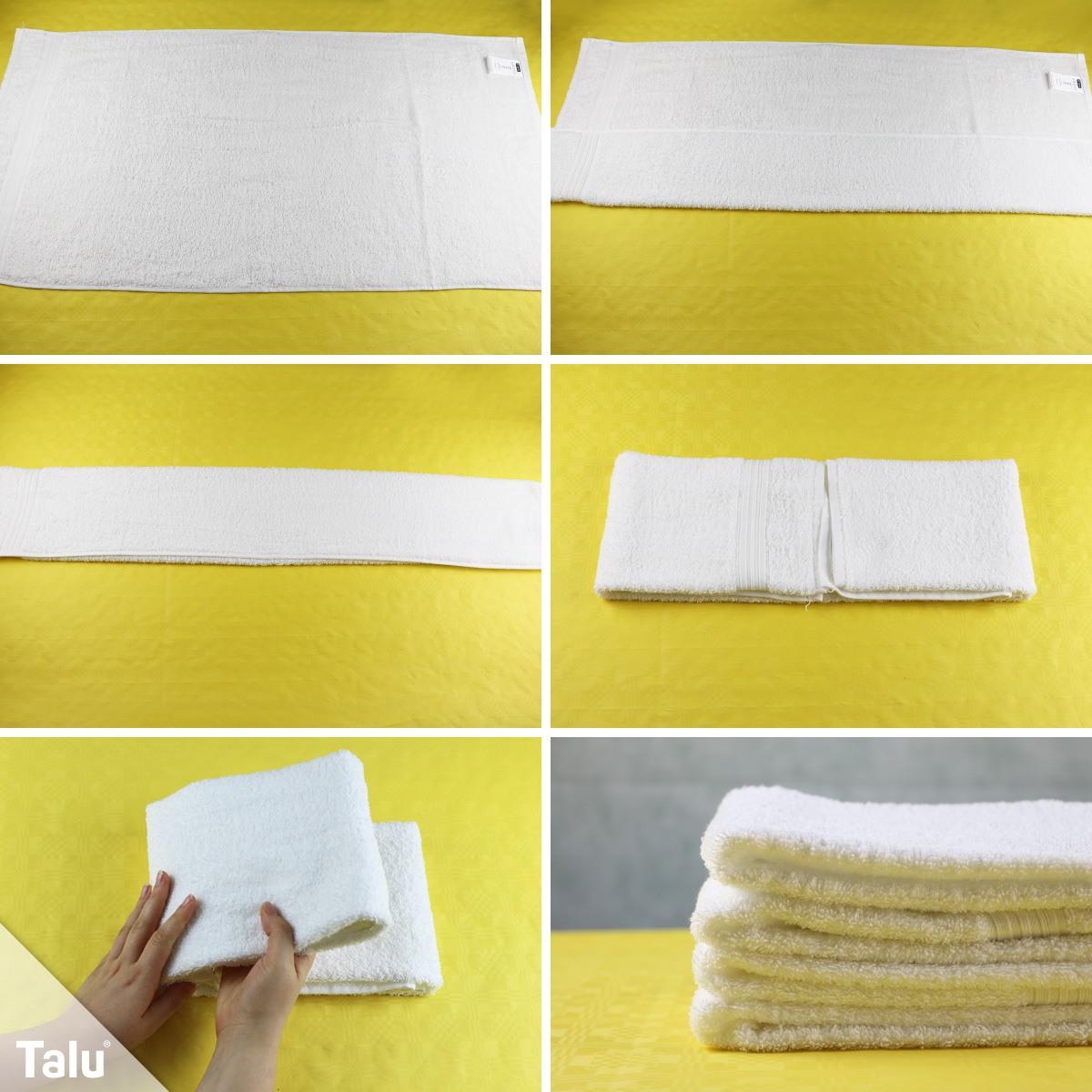 Handtücher zusammenlegen