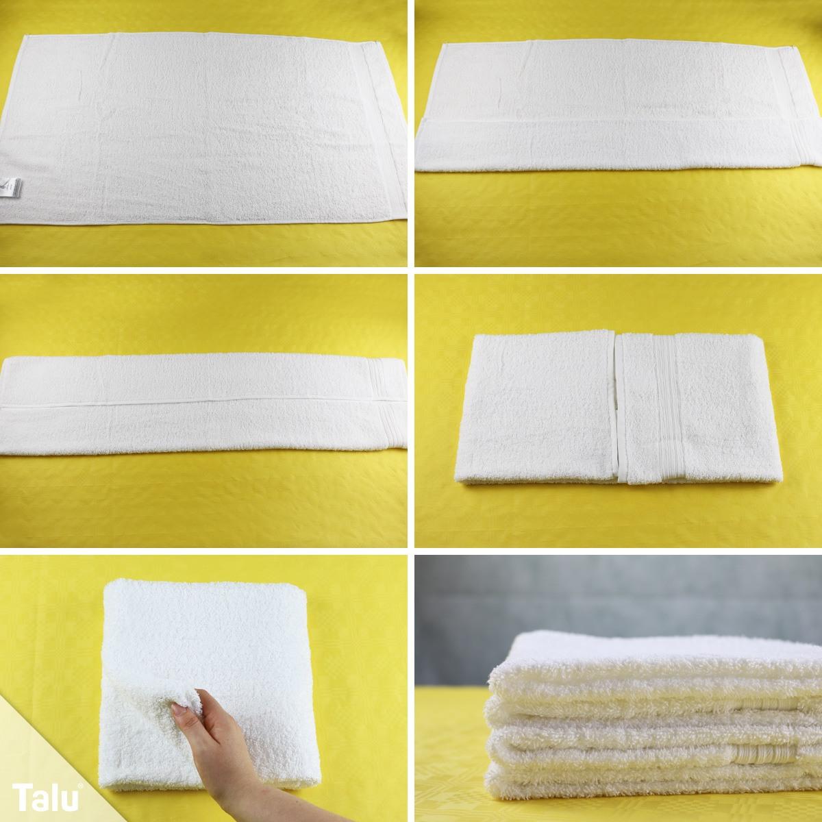 Handtücher sauber falten