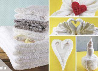 Handtücher falten