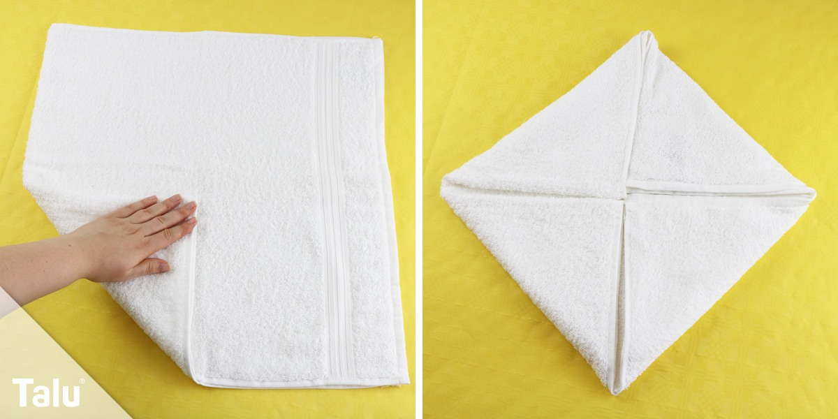 Seerosen-Handtuch falten