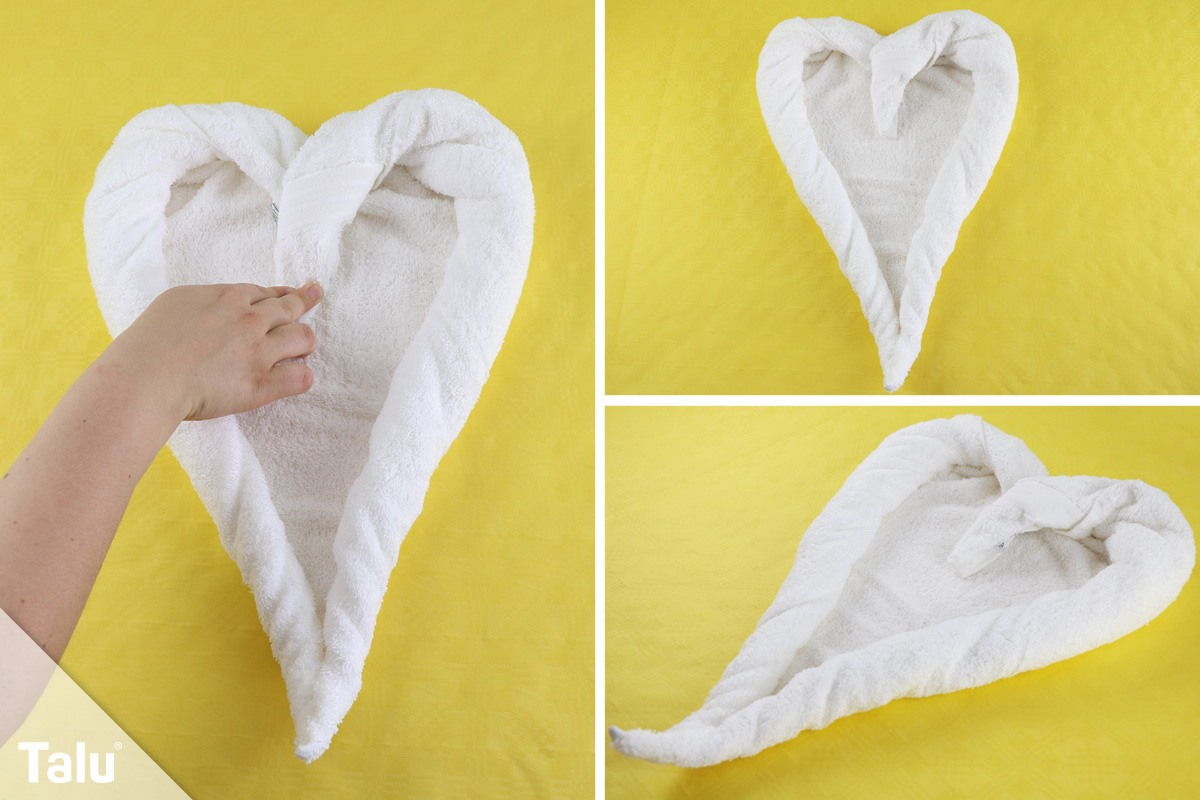 Herz aus einem Handtuch