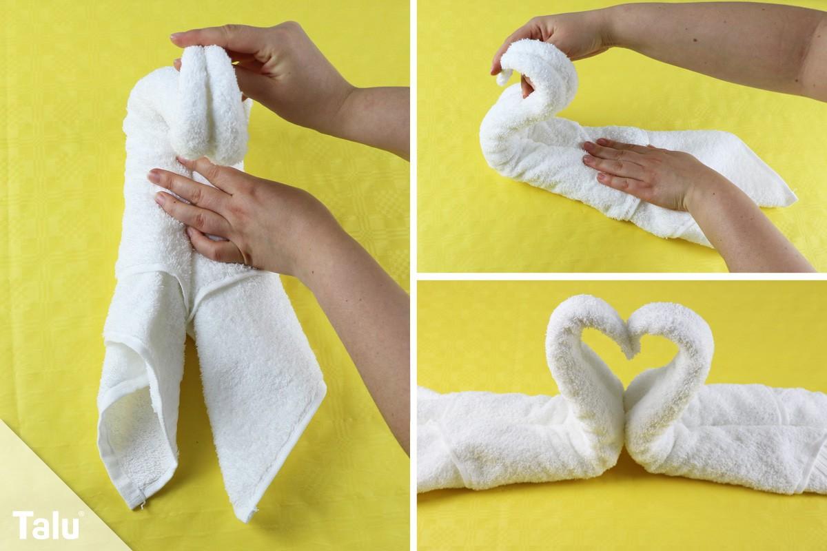 Handtuch zum Schwan falten