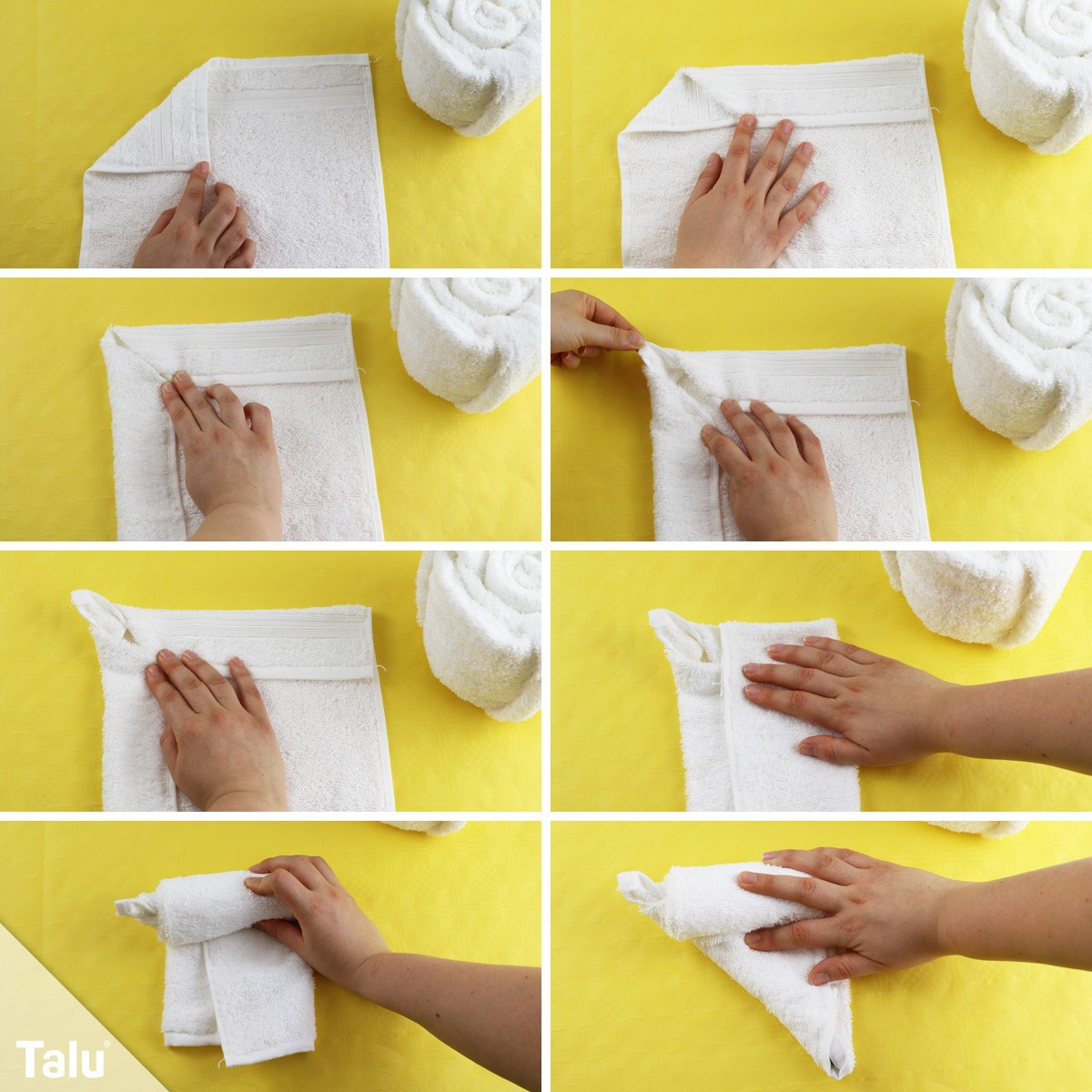 Torte aus einem Handtuch falten