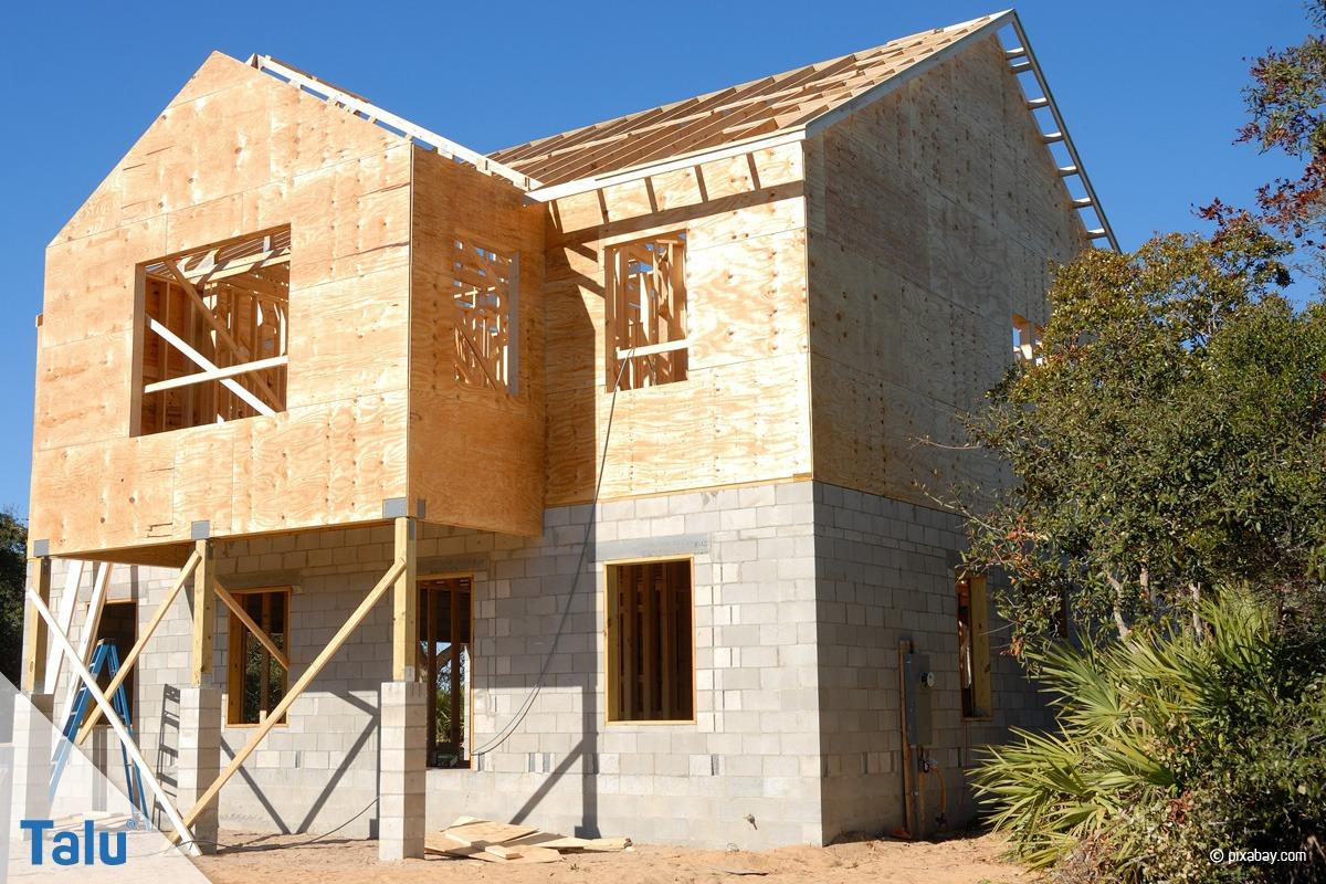 Haus mit Ständerbauweise