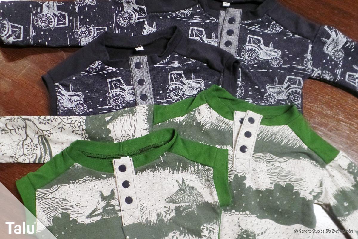Poloverschluss in T-Shirt nähen