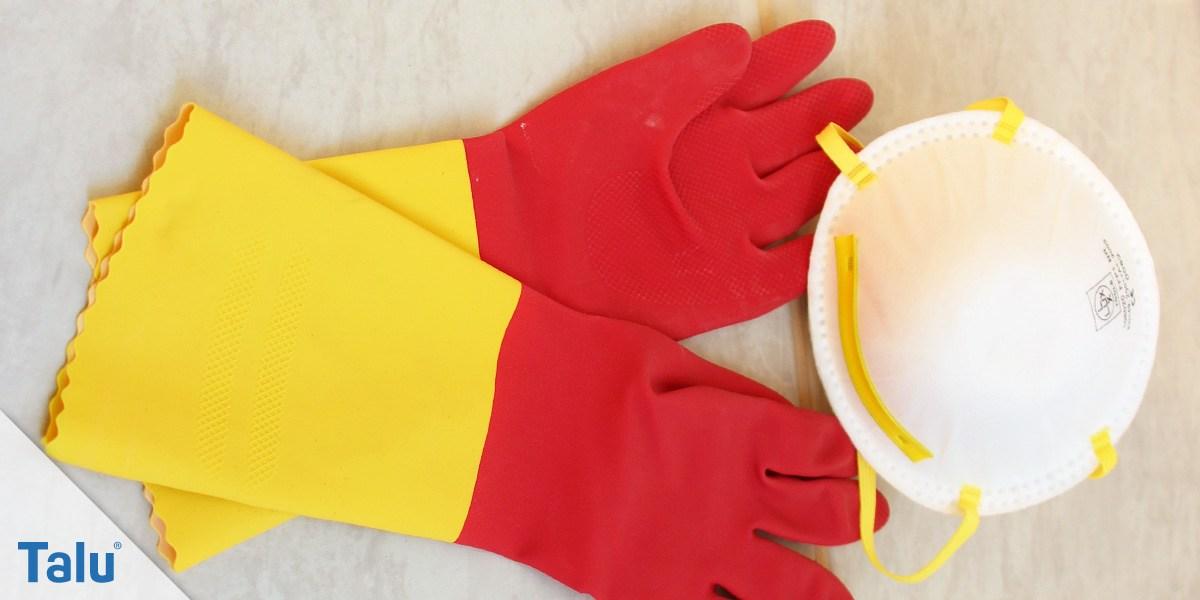 Handschuhe und Atemschutz