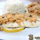 Kap-Seehecht mit Kräuterkruste und Kräuter-Knoblauch-Reis