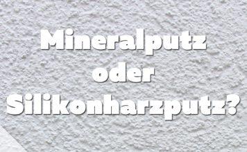 Mineral -oder Silikonharzputz